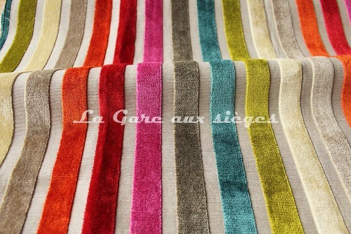 tissu deschemaker velours yucatan vente en ligne au m tre la gare aux si ges. Black Bedroom Furniture Sets. Home Design Ideas