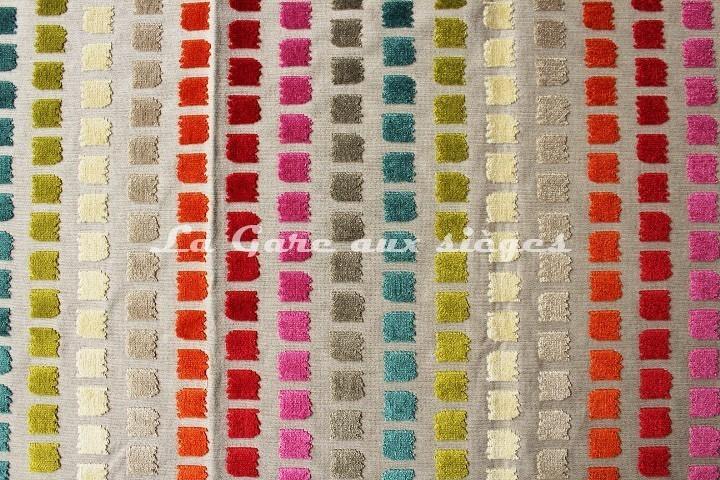 Tissu deschemaker velours salvador r f 103686 vente for Tissus ameublement velours motif